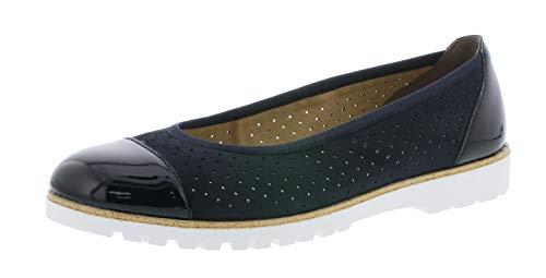 Rieker 42965 Damen Ballerinas,Flats,Sommerschuh,klassisch elegant,marine/pazifik/14,40 EU / 6.5 UK
