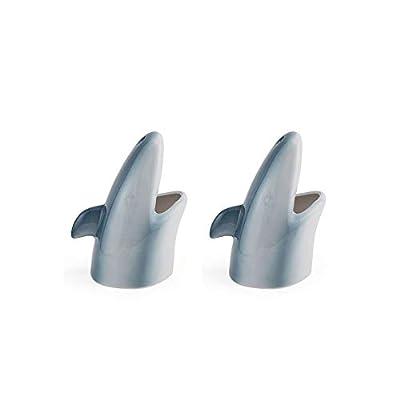 Under The Sea Aquatic Shark Ceramic Tiki Mug - Set of 2