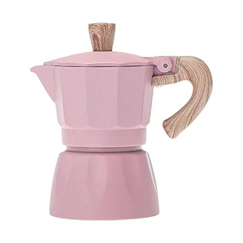 DAKIFENEY Przenośny 150 ml / 300 ml ekspres do kawy młynek elektryczny piec do espresso maka, różowy mały