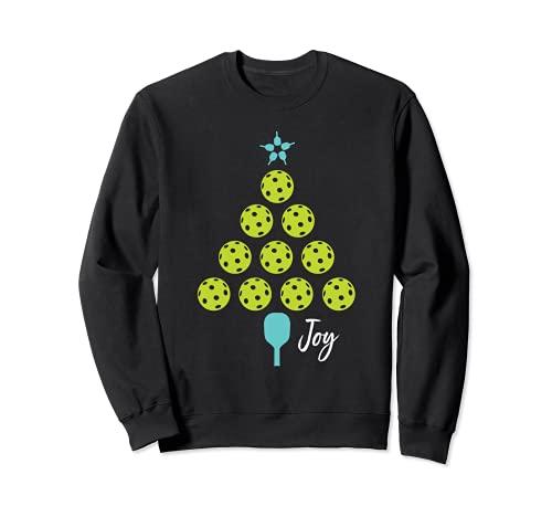 Diseño de Pickleball de Navidad, árbol de Navidad Sudadera