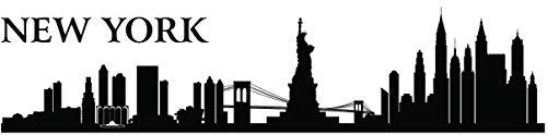 Forwall Wandtattoo New York Wandaufkleber Wandsticker Sticker Selbstklebend – USA - Stadt - Stadtbild PVC SPA2 160cm x 38cm