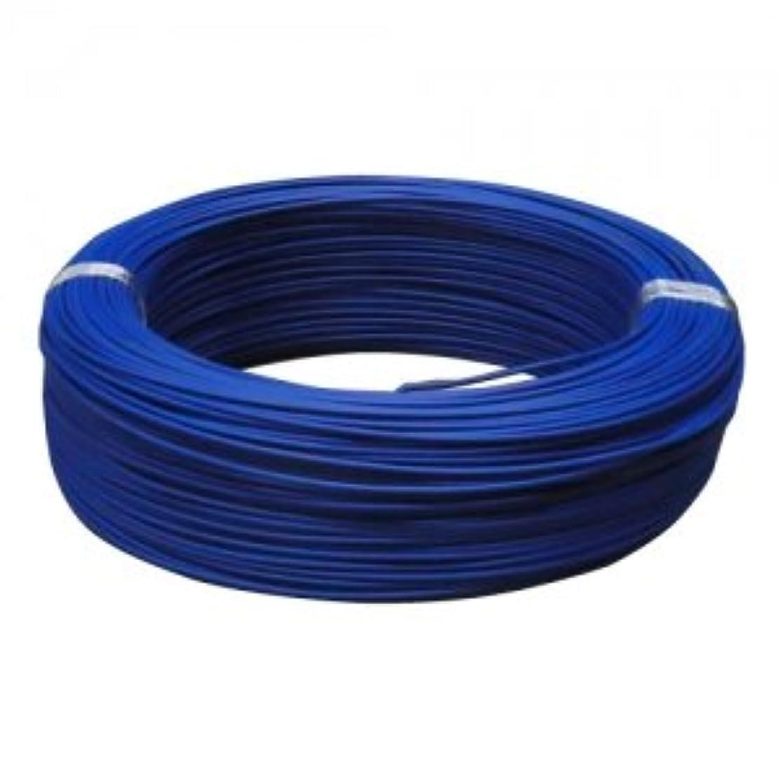 折るリマーク畝間住電日立ケーブル 600V 2種ビニル絶縁電線 単線 2.0mm 300m巻 青 HIV2.0×300mアオ