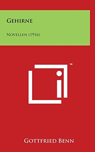 Gehirne: Novellen (1916)
