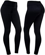 CompressionZ High Waisted Women's Leggings - Compression Pants for Yoga Running Gym & Everyday Fitness (Black, Large)