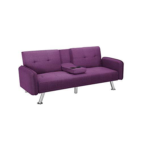 T-ara Suave y Confortable El Tiempo de Entrega es Exclusivamente de 3 a 7 días operativos, Sofá modernista para la habitación sobreviviente (púrpura), sofá con 5 Patas de aleación, 3 sofás Cama conve