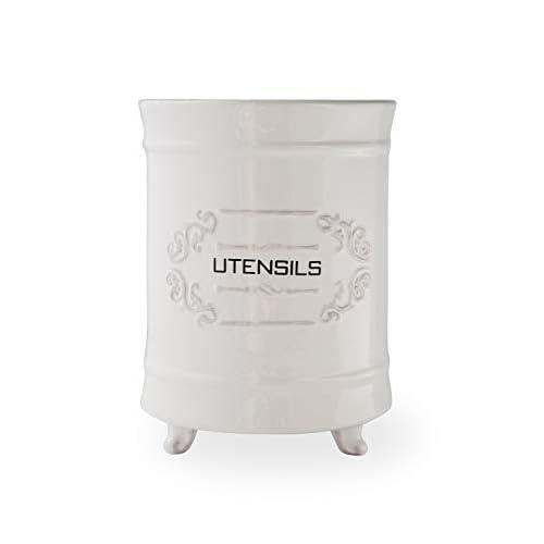 Comfify French Ceramic Utensil Holder - White