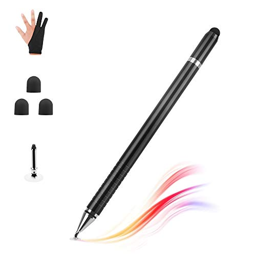 TNTOR Stylus, 3in1 Eingabestift Kapazitive Touchscreen Touchstift Kompatibel mit iPad Pro Mini Air Smartphones und Surface Android Tablets