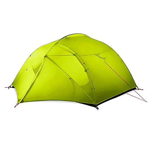 Tent Camping Tent 4 Person Easy Set Up Double Layer Waterproof 3 Season Tent for Family Hiking Cycling Shelters (Color : Green)