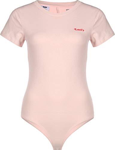 Levi's Damen Graphic Tee Badeanzug, Pink (Feminine Logo Bodysuit Peach Blush 0000), Large