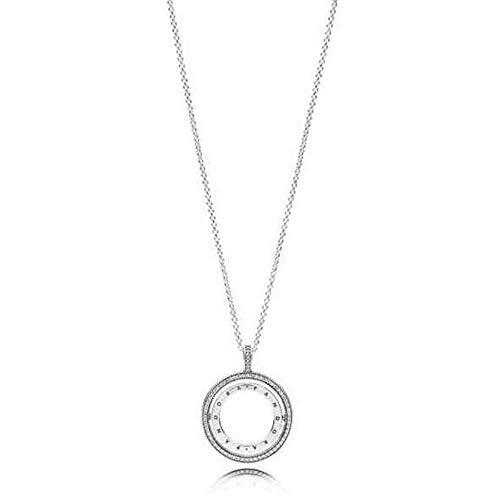Pandora Collar con colgante Mujer plata - 397410CZ-60
