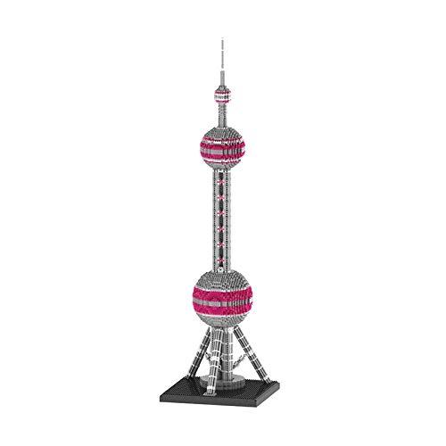 Micro Mini Bloques de Construcción Pearl of Orient Tower Kit de Modelo 3D (4220 Piezas) Juguetes de Arquitectura Regalos para Niños y Adultos, Multicolor