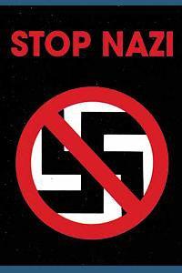 GEGEN NAZIS stop nazi POSTER FLAGGE POSTER FAHNE