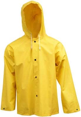 Tingley J53107 .35mm Industrial Work Hooded Jacket, Yellow, Large (Pack of 5)