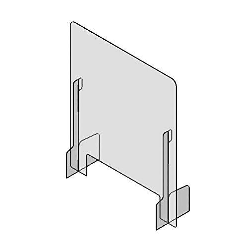 Mampara de Protección 78 x 65 x 20cm - Safe Wall - Separador en policarbonato transparente - Protección transparente mostrador para farmacias, oficina, comercio y comedores