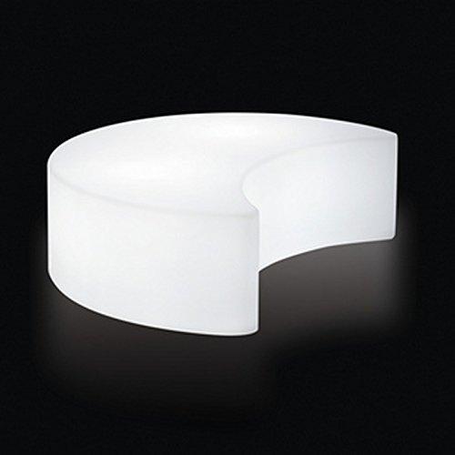 Banc d'intérieur lumineux Moon de SLIDE Couleur Blanc Matière Polyethylène