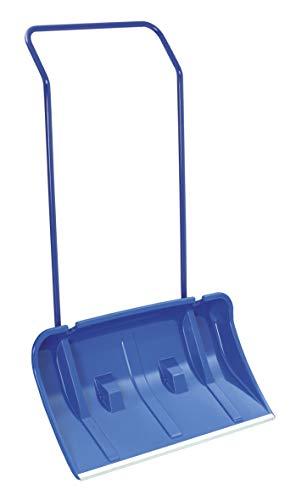 Schneeschieber mitRädern/Rollen Schneewanne 80 cm Breit inkl. Streusalzschaufel und Ersatzräder Blau Alukante