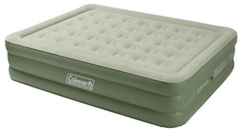Coleman Airbed Maxi Comfort Bed Raised King, Camping Mat, Flocked Air Bed, Inflatable Double Height Air Mattress, Blow Up Bed, 198 x 152 x 46 cm