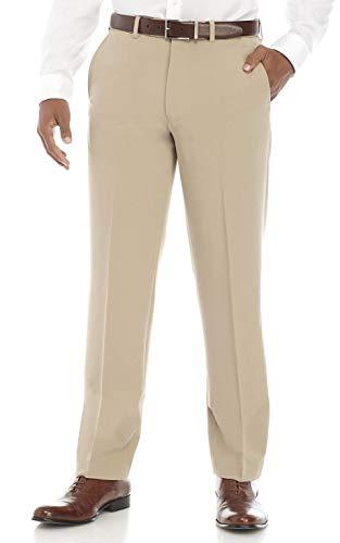 Nautica Men's 4-Way Performance Stretch Herringbone Dress Pant (Tan, 32W X30L)