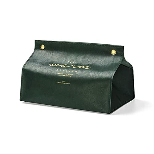 Almacenamiento de pañuelos, bolsa de pañuelos de coche plegable de cuero creativo Caja de almacenamiento de toallas de papel para el hogar Mesa de centro para sala de estar Bandeja de papel en rollo