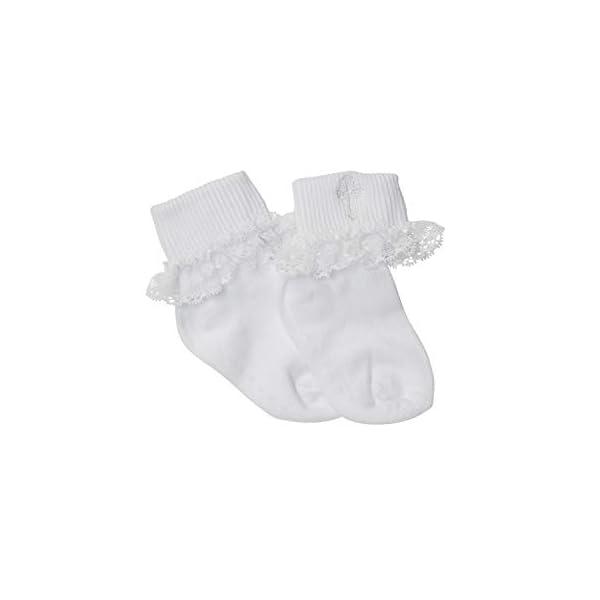 Born to Love Kids White Communion Girls Boys Baptism Christening Socks with Cross Embroidery