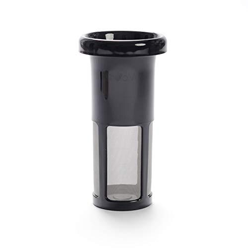 Filterglas.Ersatz für Vegan Milker by Chufamix. Edelstahlfilter. Schwarz. Funktioniert mit jeder Version des Gerätes.
