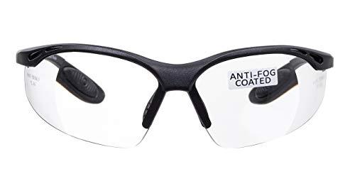 voltX 'Constructor' Schutzbrille Volle Linsenvergrößerung (Nicht bifokal) +2,50 Dioptrien– farblos, LESERSCHUTZBRILLE Vergrößerung linse Schutzbrille mit Lesehilfe + Anti Fog UV400 Linse