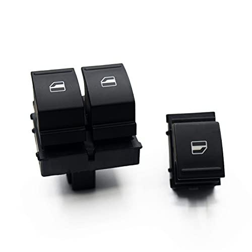 QCYSTBTG Botón de Interruptor de Control de Ventana eléctrica 1K3 959 857A 1F0 959855, para Seat Altea/XL Ibiza V Mk5 Leon Toledo II, para VW AMAROK Caddy Polo