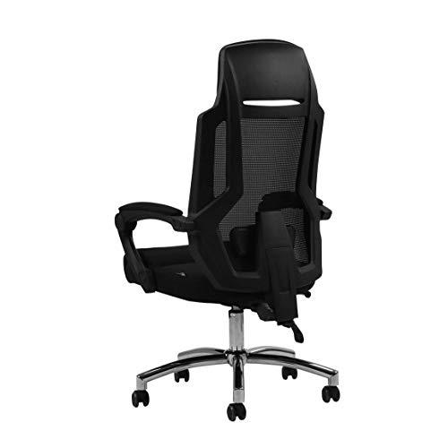 Silla de Oficina Silla de la computadora Silla giratoria ergonomica de 160 Grados Confortable salon reclinable Partido en casa sillas Gaming Drift RVTYR (Color : Black)