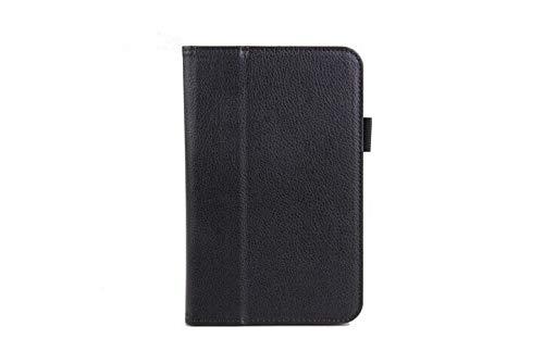 HHF Pad Accesorios para la lengüeta 3 Lite T110 T111 tabletas Libros Caso + Pluma del Soporte del tirón de la PU de la Cubierta de Libro de Cuero para la lengüeta 3 Lite (Color : Negro)