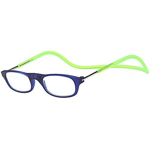Kost Lesebrille mit Magnetverschluss für Sie & Ihn blau/grün Lesehilfe Fertigbrille +3,0