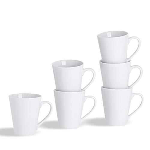 Argon Tableware Juego de Tazas Blancas para el café o té -...