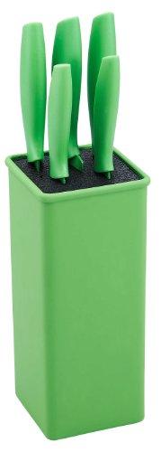 Renberg Messerset Messerblock 5-teilig Edelstahl Antihaftbeschichtung Grün