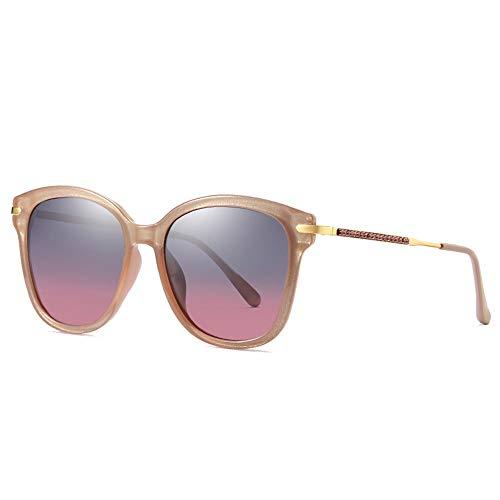 Hancoc Caja De Europa Y América Gafas De Sol Polarizadas for Damas Gradientes De Color Protección UV400 con Incrustaciones De Diamantes De Plástico (Color : Pink)