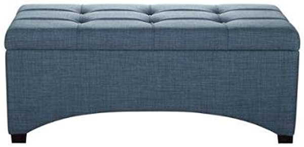 Better Homes And Gardens Pintucked Storage Bench Denim