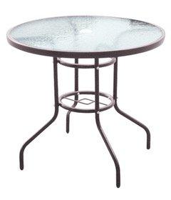 Mesa de jardín de 4plazas mesa acero