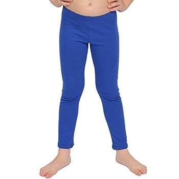Stretch is Comfort Girl s Cotton Footless Leggings Royal Blue Medium