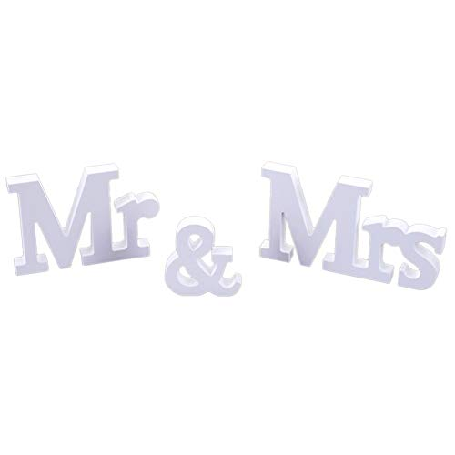 ypypiaol Regalo di Mr Mrs Letter Sign Anniversario di Matrimonio Festa Desktop Ornamento Decorazione Puntelli 1#