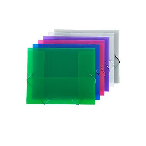 Comix Document Wallet with Elastic Band, LS, 6pcs/pk (A1295LE)