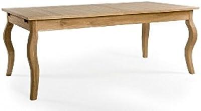 Amazon.com: zentique T015 E271 viñedo mesa de comedor roble ...
