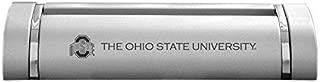 LXG, Inc. Ohio State University-Desk Business Card Holder -Silver