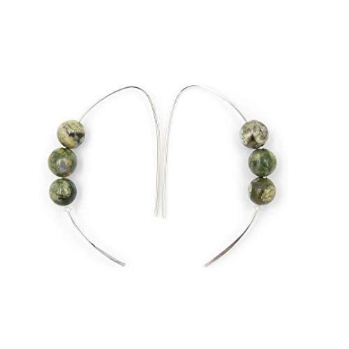Rainforest Jasper Earrings - 6