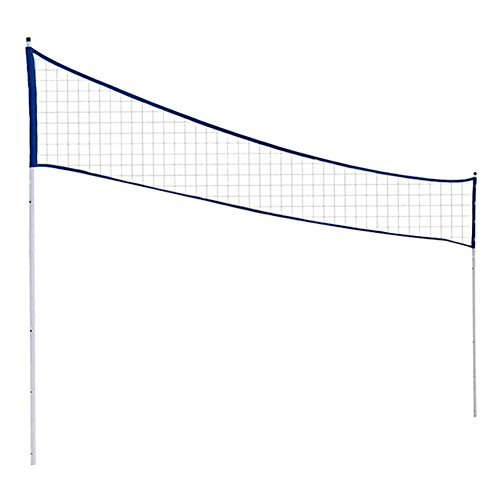 Susue Badminton Net Outdoor Portable Volleyball Net Adjustable Foldable with Stand Pole for Beach Grass Park Venues