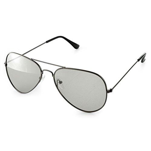 3D Brille (Pilotenbrille) für passives 3D TVs, PC-Spiele oder Kino RealD, Passivbrille (zirkular polarisiert) Farbe: schwarz, Marke Ganzoo
