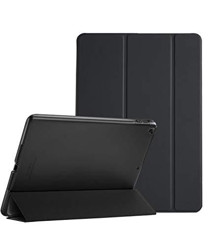 ProHülle Hülle für iPad 9.7 2018 iPad 6 Gen /2017 iPad 5 Gen Schutzhülle Hülle Cover,Dreifach Ultra Dünn Leicht Klapphülle mit Transluzent Rückseite Smart Cover für ipad 9.7 Zoll -Schwarz