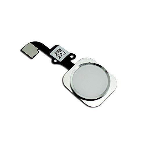 Mobofix Sostituzione Pulsante Home Tasto Home per iPhone 6/6 Plus Grigio/Argento con Cavo Flex Incluso