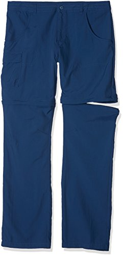 Columbia Fille Pantalon de Randonnée 2en1, SILVER RIDGE III CONVERTIBLE PANTS, Nylon, Bleu Marine (Carbon), Taille: XXS, EH8587