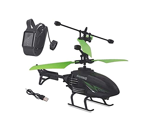 Vintage Cart Flying Outdoor & Indoor Induction Flight Electronic Radio RC Remote Control Toy Charging Helicopter with 3D Light & Safety Sensor for Indoor Toys for Kids (Multicolor)