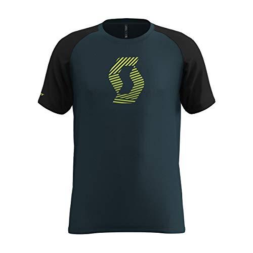 Scott T-Shirt 10 Icon Raglan Blau Gr. L