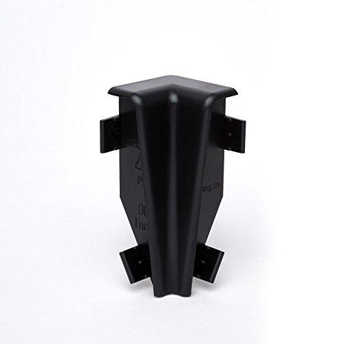 Innen- und Außenecken, Verbinder und Abschlüsse für Sockelleisten 60mm (Innenecke, Schwarz)