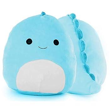 Dinosaur Plush Pillow Toys Cute Plush Dinosaur Stuffed Animal Dinosaur Toys for Kids Gifts for Kids Girl Boy and Friends Blue